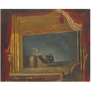 Painting - Hamlet at the New Theatre