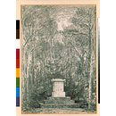 Cenotaph to Sir Joshua Reynolds amonst lime trees in the grounds of Coleorton Hall (Drawing)