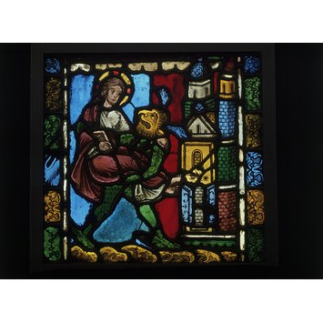 Panel - Second Temptation of Christ; Temptation in the Wilderness
