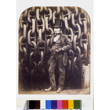 Photograph - Isambard Kingdom Brunel and the launching chains of the Great Eastern