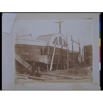 Photograph - Paddle steamer in dry dock