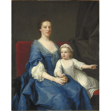 Oil painting - Portrait of an Unknown Woman and Child