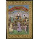 Timur Handing the Imperial Crown to Babur (Watercolour)