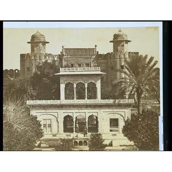 Photograph - Marble pavilion and old entrance to the fort