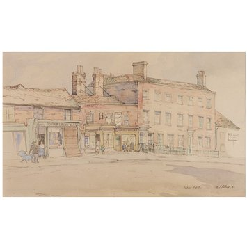 Watercolour - Epping High Street; Recording Britain Collection