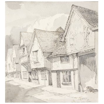 Watercolour - The Old Sun Inn, Saffron Walden; Recording Britain Collection