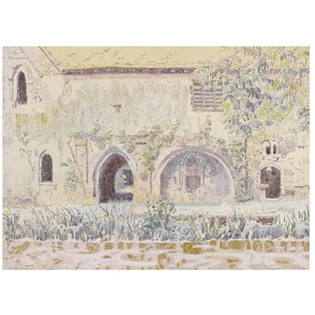 Watercolour - The Abbey, Little Coggeshall