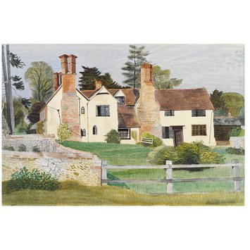 Watercolour - Brent Hall from the South, Finchingfield