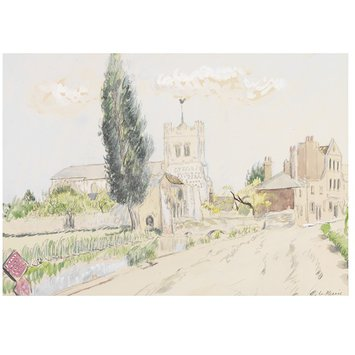 Watercolour - Waltham Abbey; Recording Britain Collection