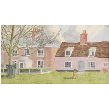 Watercolour - A House and Cottage near the Quay at Orford; Recording Britain