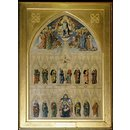Christ Enthroned with Saints (design for a fresco for All Saints, Margaret Street) (Oil painting)
