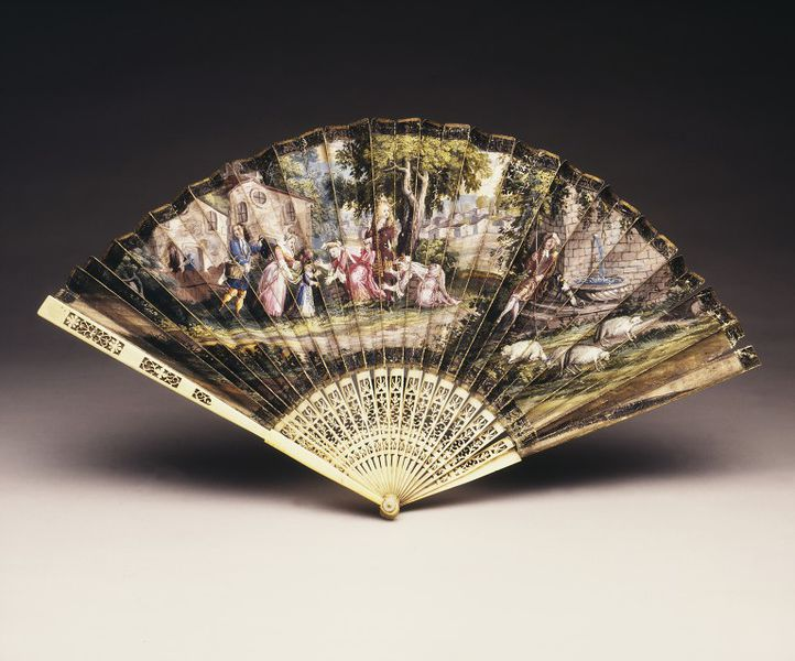 Folding Fan, c.1690, France, courtesy V&A Museum