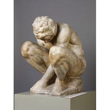 Plaster cast - Crouching boy