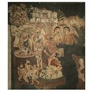 Copy of painting inside the caves of Ajanta (Cave 2); Copy of painting in the caves of Ajanta (Oil painting)