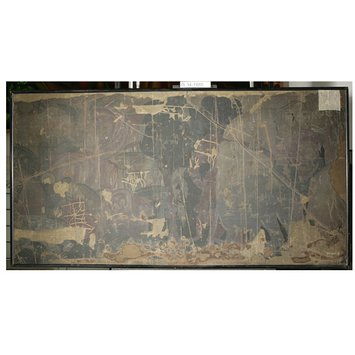 Oil painting - Copy of painting inside the caves of Ajanta (cave 10); Copy of painting inside the caves of Ajanta