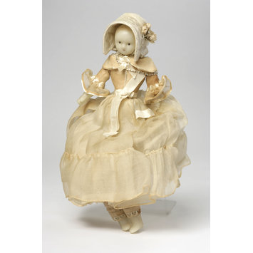 Wax doll - Doll, possibly dressed as a bride