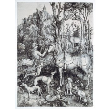 Print - St. Eustace and the stag