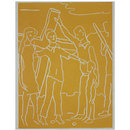 Stations of the Cross; Jesus met by Simon of Cyrene (Print)