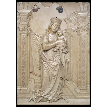 Panel relief - The Virgin and Child