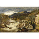 Rocky landscape; Wild Water (Oil painting)