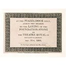 Invitation to the laying of the foundation stone of the Theatre Royal, Covent Garden (Print)
