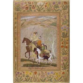 Album page - The three sons of Shah Jahan
