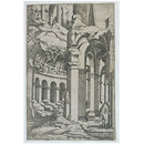 Ruins with a seated draftsman; The little book of architecture ruins (Print)