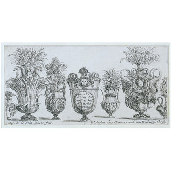 Print - Plate from a set of designs for vases