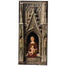 The Virgin and Child in a Gothic architectural setting (Oil painting)
