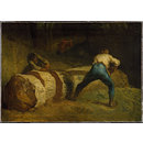 The Wood Sawyers; Les scieurs de long (Oil painting)