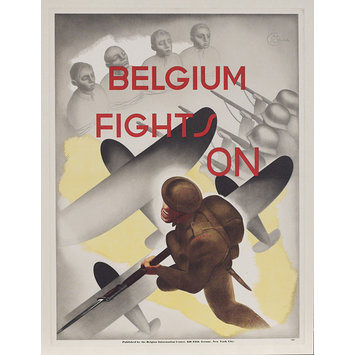Poster - Belgium Fights On