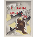 Belgium Fights On (Poster)