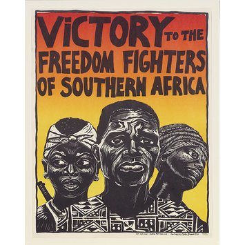 Poster - Victory To The Freedom Fighters of Southern Africa