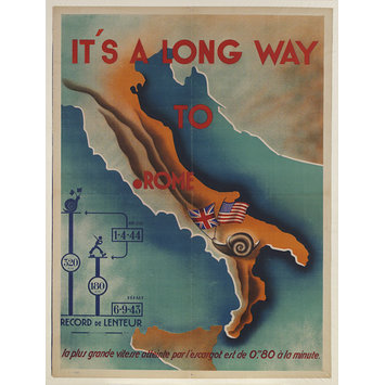 Poster - It's a Long Way to Rome