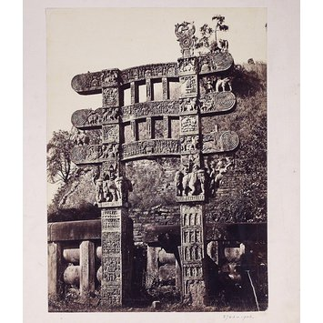 Photograph - The Eastern gateway at Sanchi