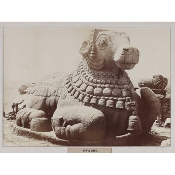 Photograph - Sculpture of Nandi at the French rocks at Mysore