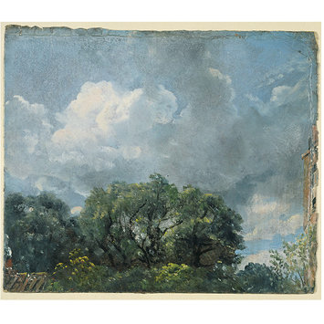 Oil sketch - Study of sky and trees
