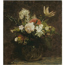 Flowers: Tulips, Azaleas, Roses; Fleurs (Oil painting)