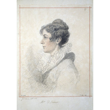 Portrait drawing - Mary Dawson Turner ; A Collection of Original Portraits, 1819