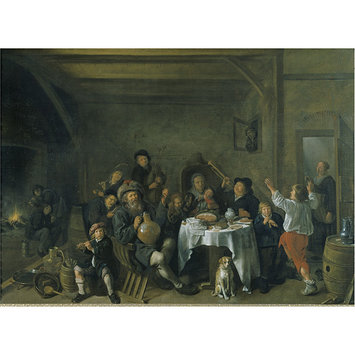 Oil painting - A Family Merrymaking