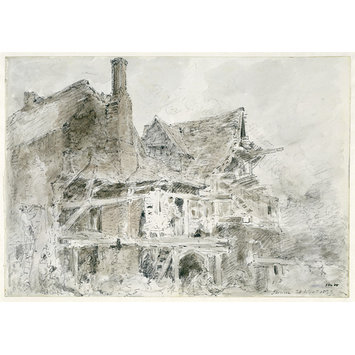 Drawing - The demolition or repair of old houses in Salisbury