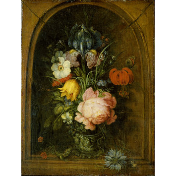 Oil painting - Flowers in a Niche