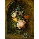 Flowers in a Niche (Oil painting)