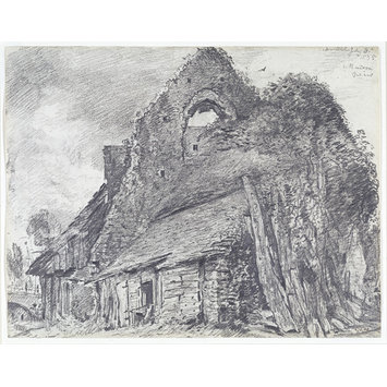 Drawing - The ruins of the Maison Dieu, Arundel.