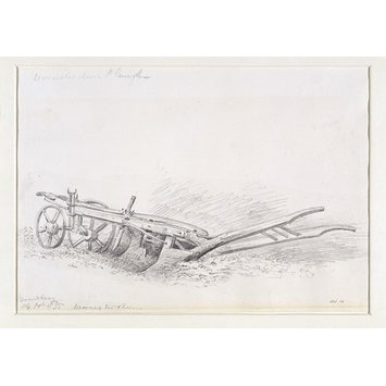 Drawing - A plough at Bewdley.
