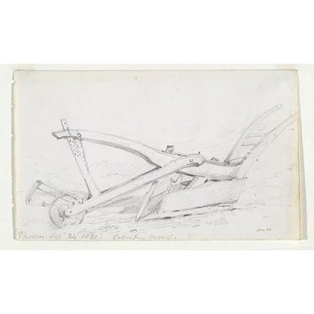 Drawing - Sketch of a plough at Epsom.