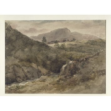 Watercolour - View in the Lake District