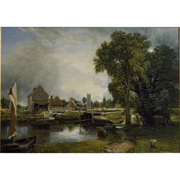 Oil painting - Dedham Lock and Mill