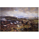 The Battle of Waterloo: The British Squares Receiving the Charge of the French Cuirassiers (Oil painting)