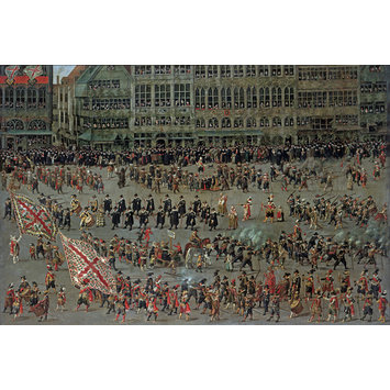 Oil painting - The Ommeganck in Brussels on 31 May 1615: The Senior Guilds